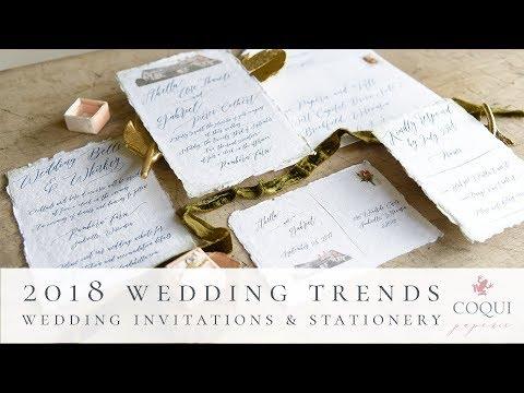 2018 Wedding Invitation Trends | Coqui Paperie