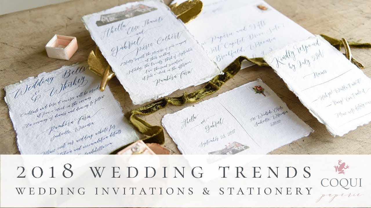2018 Wedding Invitation Trends | Coqui Paperie & Gifts