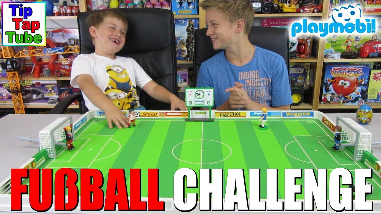 die playmobil fußball challenge  tiptaptubekinderkanal