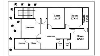 Autocad Tutorial Autocad 2007 Tutorial House Plan Autocad House Plan Design 3 Bedroom Youtube
