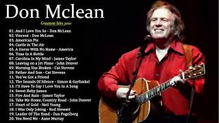 DonMclean Greatest Hits Full Album - Folk Rock And Country Collection 70's/80's/90's Don Mclean🎵