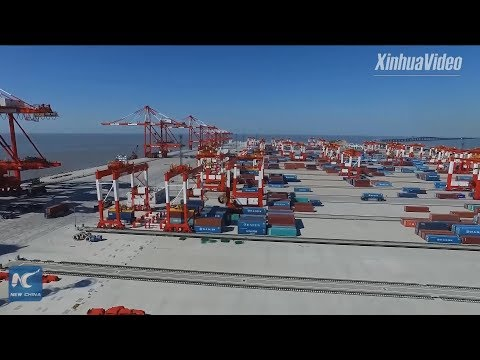 Exploring world's biggest automated container terminal in Shanghai
