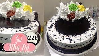 cake chocola beautiful decoration nice - bánh kem socola đẹp đơn giản nhanh (228)