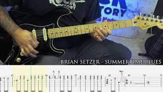 BRIAN SETZER - Summertime Blues [GUITAR COVER + TAB]