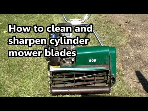 How to clean and sharpen your cylinder mower blades