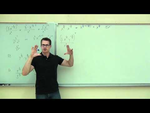 Intermediate Algebra Lecture 10.2:  Rational Exponents; From