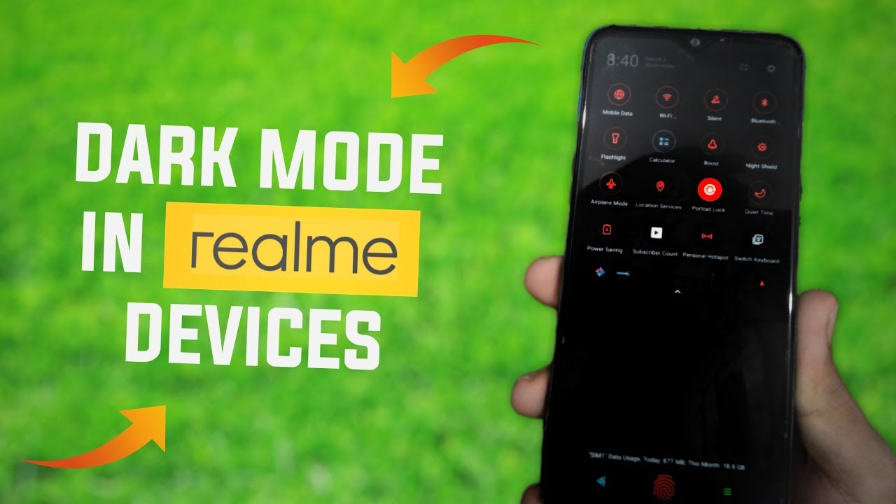 Dark Mode In Realme 2 Pro, Realme 2, Realme U1, Realme C1
