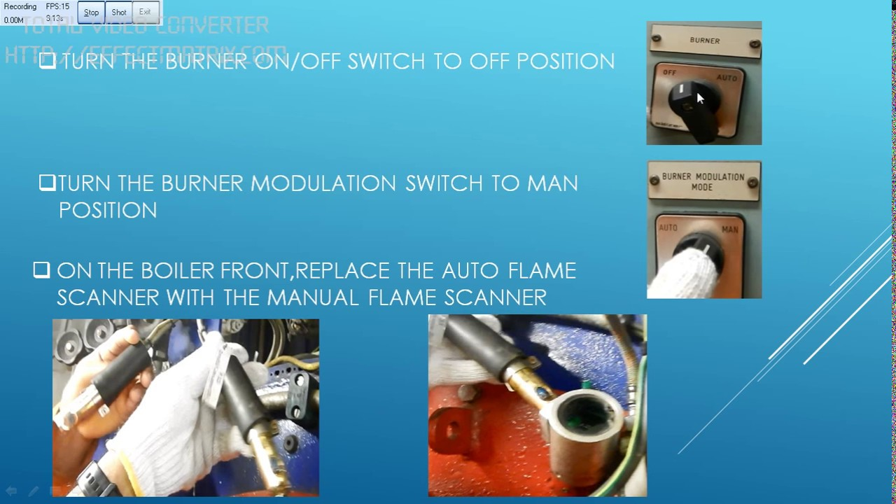 Composite Boiler Emergency Firing - Step By Step Instruction - YouTube