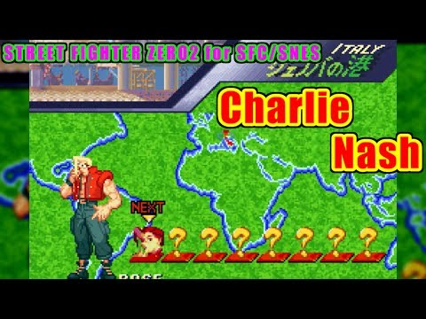 ナッシュ(Nash/Charlie) - STREET FIGHTER ZERO2(SFC/SNES) - LS-58-01