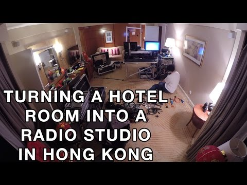 Turning a Hotel Room into a Radio Studio in Hong Kong (4K)
