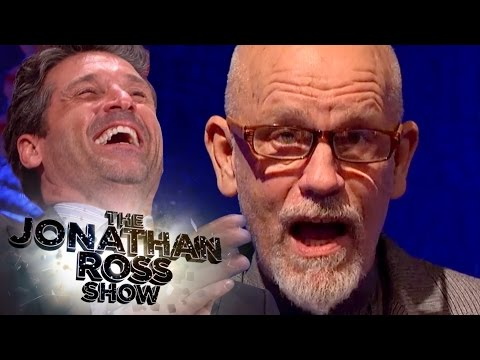 John Malkovich Reads Sexy Patrick Dempsey Tweets - The Jonathan Ross Show
