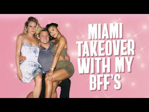 My Best Friends Try VEGAN PIZZA! Miami Takeover   Katya Elise Henry