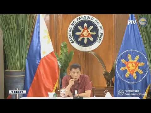 President Rodrigo Duterte addresses the Philippine nation |  Thursday, May 28