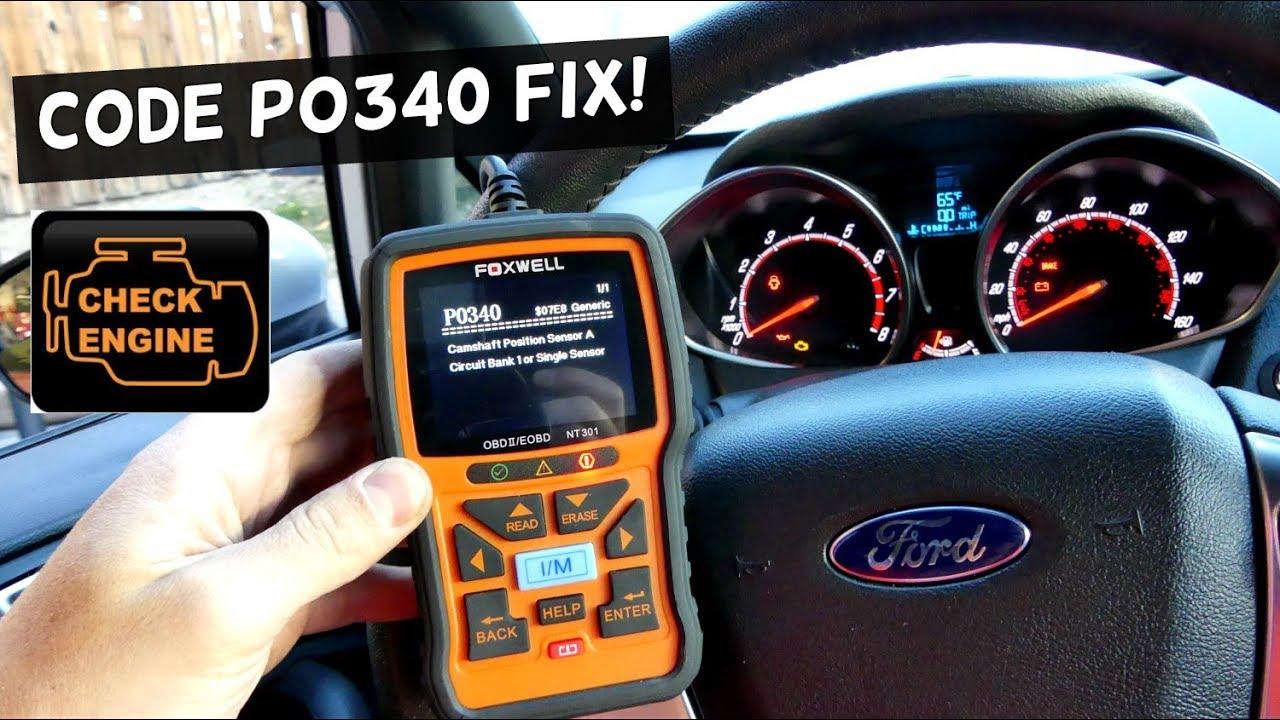 Ford Fiesta P0340 Camshaft Position Sensor Code Fix