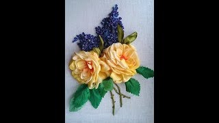 Мастер класс -3 Роза и сирень  - от Наталии Уритян