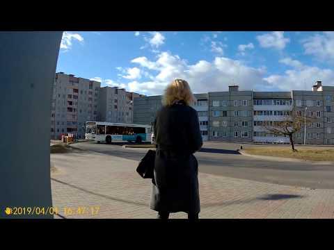 Орша.Поездка на автобусе №15 Водоканал - Вокзал (по ул.Пограничной)