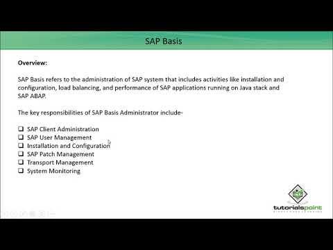 SAP Basis - Overview