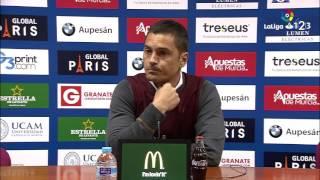 Rueda de prensa de Francisco Rodríguez tras el UCAM Murcia vs RCD Mallorca (1-1)