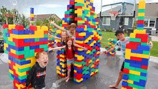 Giant LEGO Waterpark in Our Backyard!!