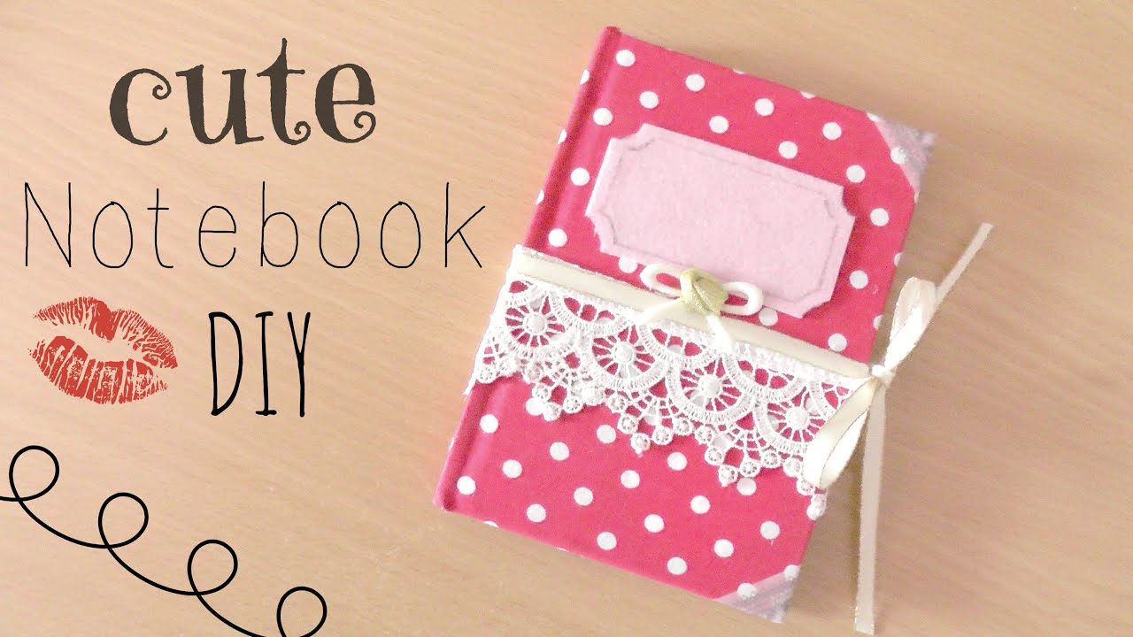 Creative School Book Cover Design Ideas ~ Diy cute fabric cover notebook youtube