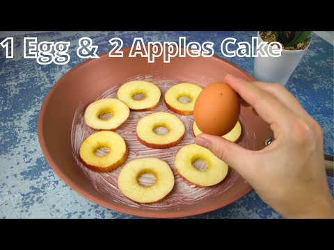 If You Have Just 1 EGG and 2 Apples Make This Cake/Incredible Cake Recipe!!