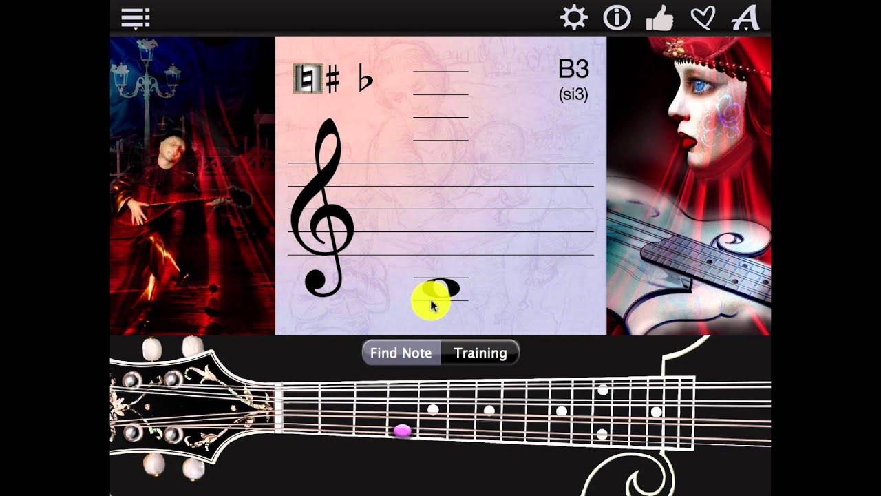 Mandolin Notes Finder App