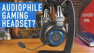 Audio-Technica ATH-G1WL Wireless Gaming Headset - Audiophile & Gaming