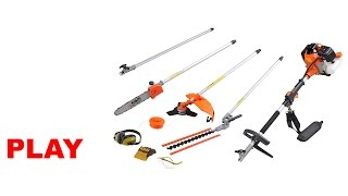 Kiam Sherwood 5in1 Multi-Tool (Hedge Trimmer, Strimmer, Brush Cutter, Chainsaw, Extension Pole)