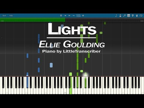 Ellie Goulding - Lights (Piano Cover) by LittleTranscriber