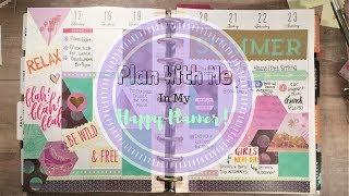 Plan With Me Using Scrapbook Paper   The Happy Planner   No Etsy Stickers