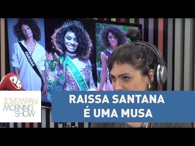 """""""Raissa Santana é uma musa"""", diz Paula Carvalho sobre 2ª negra eleita miss Brasil l Morning Show"""