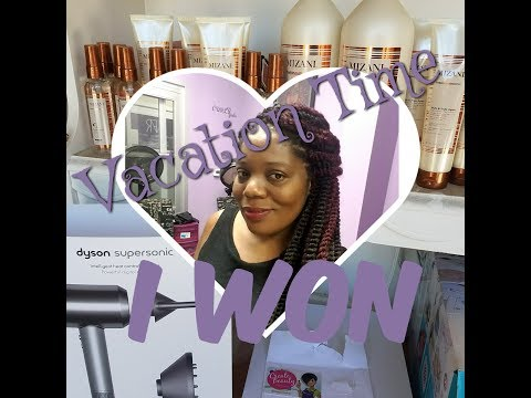 $400 blow dryer / Mizani SalonCentric prize unboxing and start of Vacation Vlog