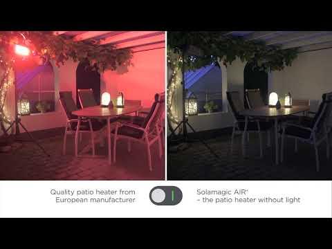 Solamagic AIR+ vs almindelige varmelamper