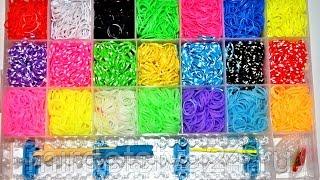 Набор для плетения браслетов из 5300 резинок - обзор и распаковка
