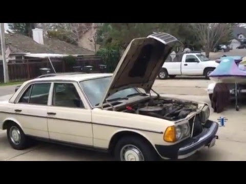 Mercedes 240D How to open hood all the way up