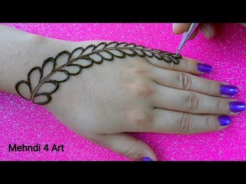 Most Easy Simple Mehndi design for hands | New Mehndi design back hand