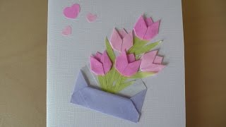 DIY Flower Card (Mother's Day Origami)