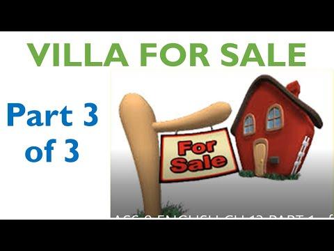 Class 9 English Communicative - Villa For Sale Explanation, summary, QA part 3 of 3