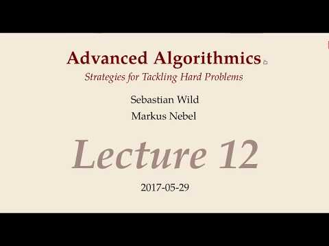 Advanced Algorithms - Lecture 12