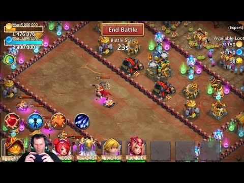 JT's Free 2 Play 3 Flaming Expert Dungeon 7 Castle Clash