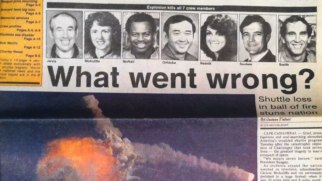 Space Shuttle Challenger disaster changed perception of