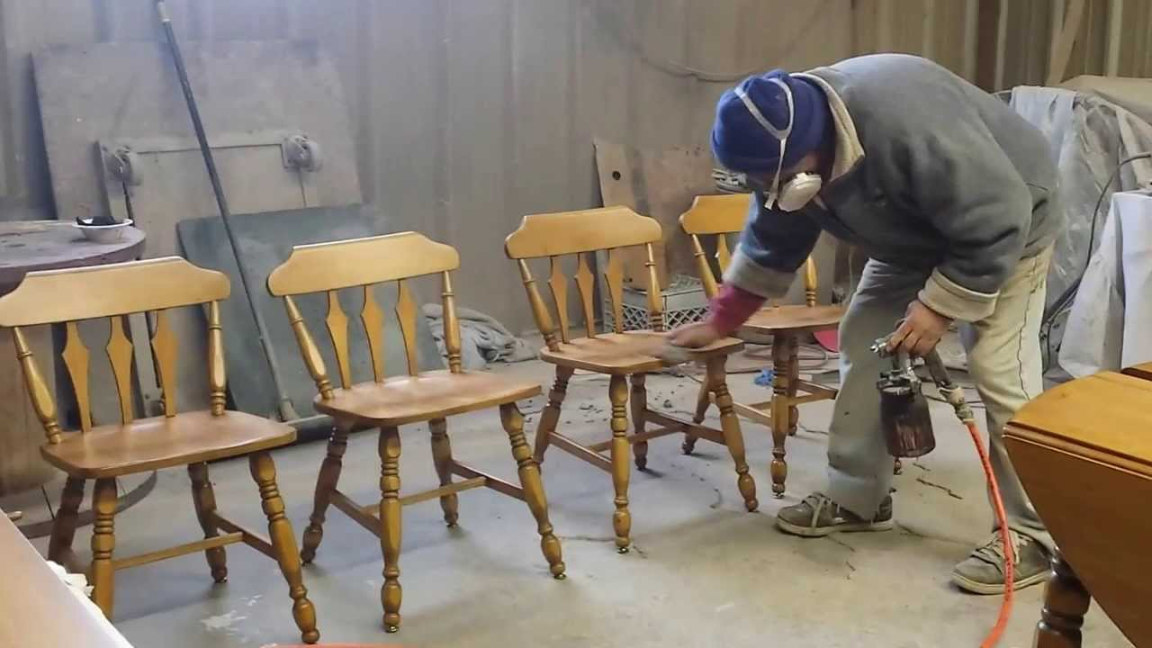 Refinishing Maple Chairs Timeless Arts Refinishing   YouTube