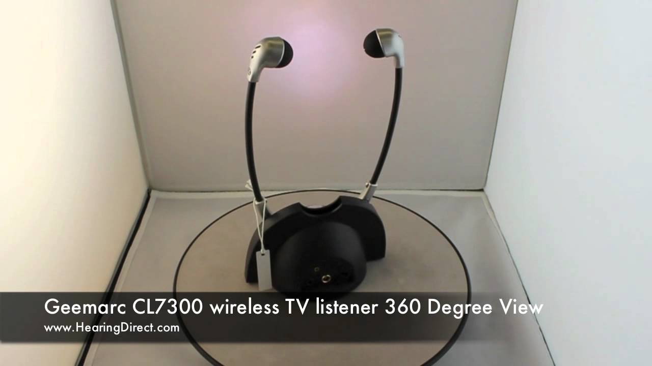 geemarc cl7300  Geemarc CL7300 wireless TV listener 360 Degree View - YouTube