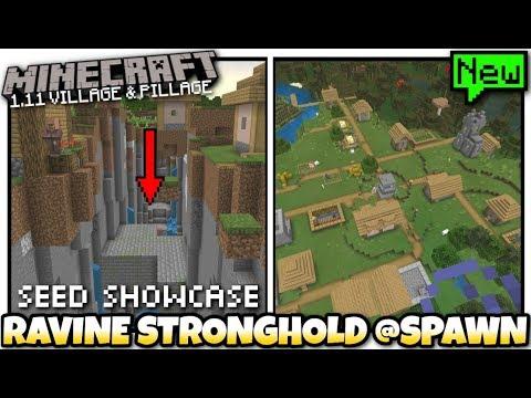 Minecraft 3x Village Stronghold Ravine At Spawn Seed