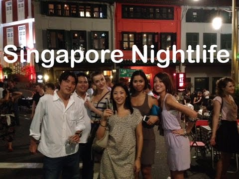 Singapore Nightlife Bars Clubs Restaurants Night Market Walking Tour by HourPhilippines.com