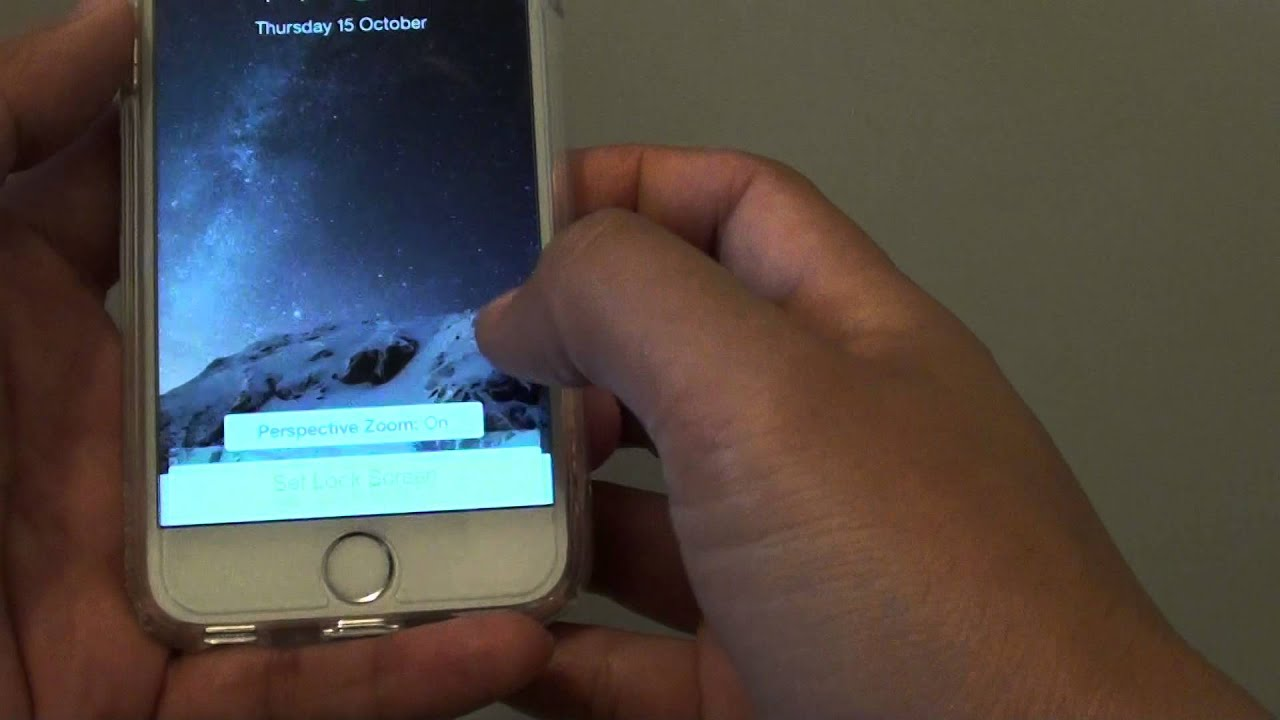 Iphone 6 How To Change Background Wallpaper Youtube