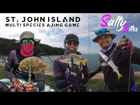 St. John Island Singapore Fishing   Multi-species Ajing Fishing   Salty Bites 1.3