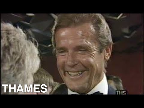 Roger Moore   Royal Film Premier  A view to a Kill  1985