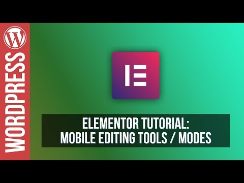 How To Build Mobile Ready Responsive Websites in Elementor for WordPress - Tutorial