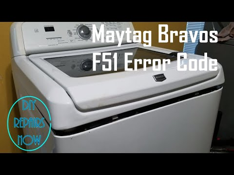 How to Fix F51 Error Code on Maytag Bravos , Whirlpool Cabrio, and Kenmore Oasis Washer | MVWB700VQ0